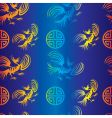 dragon background vector image