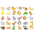 extra large set animals vector image vector image