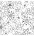 Fantasy flowers coloring vector image vector image