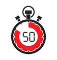 fifty minute stop watch countdown vector image vector image