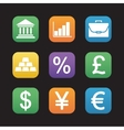 Finance and banking flat design icons set vector image vector image