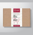 fine quality organic lamb craft cardboard box vector image vector image