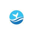 fish logo template icon vector image