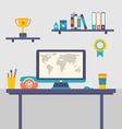 flat design of office workspace creative worker vector image vector image