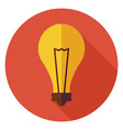 Flat Education and Science Idea Lamp Light Bulb vector image vector image