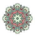 floral mandala white background vector image