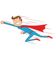 flying super hero vector image vector image
