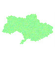 green honeycomb ukraine map vector image vector image