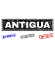 grunge antigua textured rectangle stamp seals vector image vector image