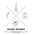 hipster logo or label for musical instruments vector image