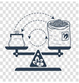 icon private trade linear vector image vector image