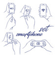 icon set smartphone vector image