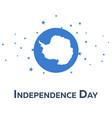 independence day of antarctica patriotic banner vector image