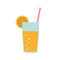 juice glass cup vector image vector image