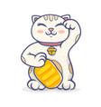 kawaii lucky cat vector image vector image