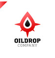logo compass with drop of water vector image
