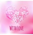 Love triangular heart card vector image vector image