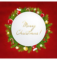 Merry Christmas Festive Card vector image vector image