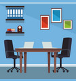 office interior scenery vector image vector image