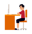 online education man student vector image