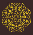 ornamental symmetric patter in ottoman style vector image
