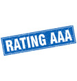 rating aaa blue square grunge stamp on white vector image vector image
