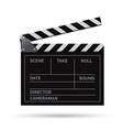 realistic movie clapper slapstick vector image
