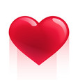 red realistic heart isolated on white vector image vector image
