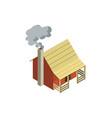 rural farm house isometric 3d element vector image vector image