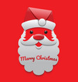 santa claus on the red background vector image