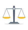 scales justice icon empty scales vector image vector image