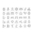Set Flat Line Icons UK