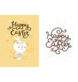 set of easter cards with bunny egg vector image