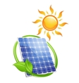 Sustainable solar energy concept vector image