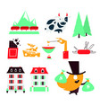 switzerland a flat modern icon set vector image vector image