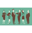 team of three men and three women in business vector image
