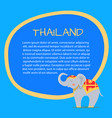 thailand touristic banner with sample text vector image vector image
