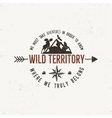 Vintage wild emblem Retro of vector image vector image