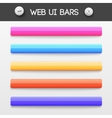 web interface ui elements vector image