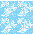 winter ornamental floral seamless pattern light bl vector image