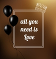 phrase all you need is love vector image