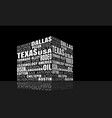 texas words cloud vector image