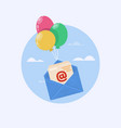 open mail icon one of set web icons vector image