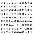 Communication icons Web icons set Internet icons vector image