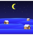 winter landscape Merry Christmas vector image