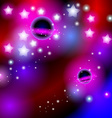 Abstract background space with stars Bright and vector image vector image