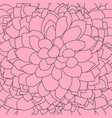 abstract pattern hand drawn dahlia flower vector image vector image