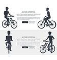 active lifestyle bikes set vector image vector image