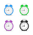alarm clock set icons flat design style vector image vector image