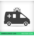 Ambulance car black icon vector image vector image